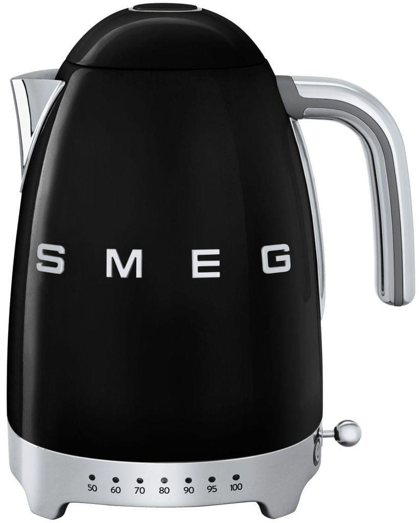 SMEG 1.7L 50's Style Variable Temperature Kettle - Black