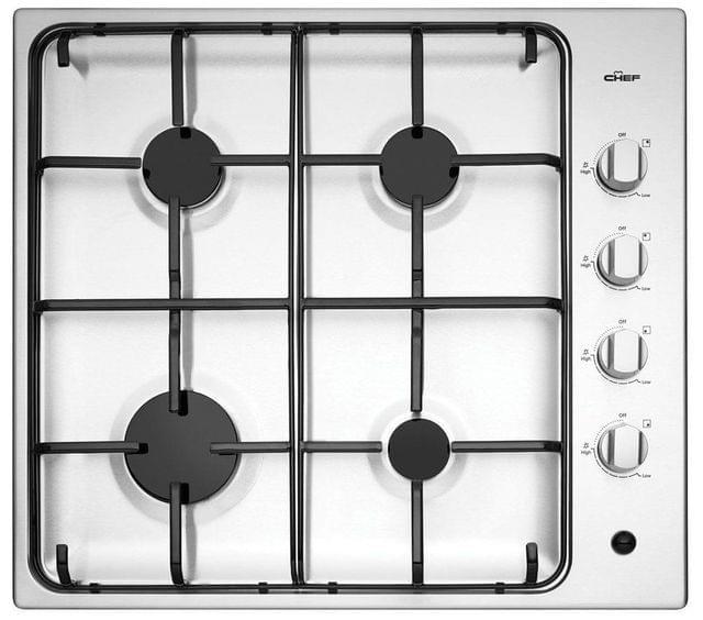 CHEF 60cm Gas Cooktop Enamel Trivets F/F