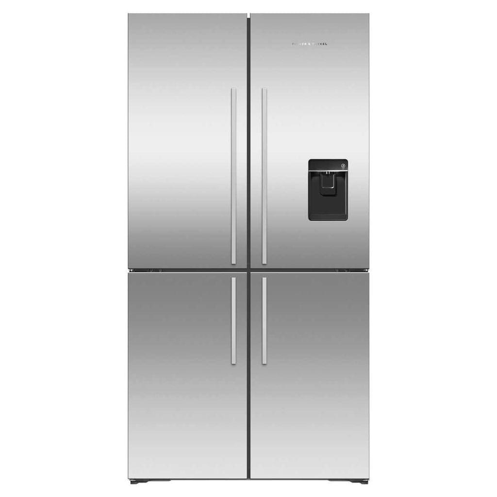 F&P 605L Quad Door Refrigerator Ice & Water