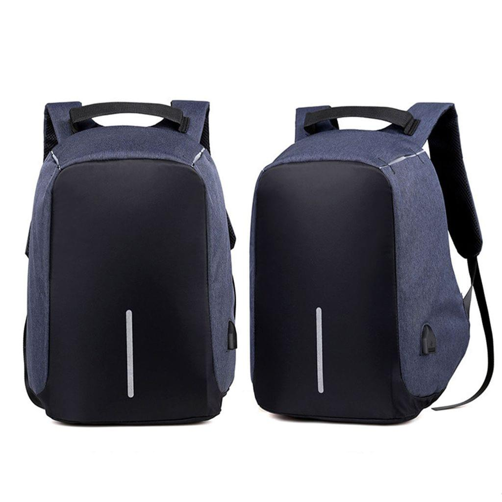 NEW Anti Theft Backpack Waterproof bag School Travel Laptop Bags USB Charging - Blue