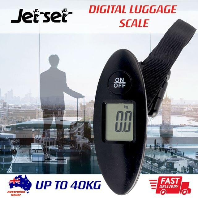 Portable Digital Luggage Scale Electronic Black Lightweight Travel Mass Weight