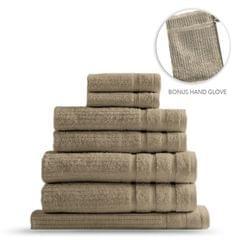 Royal Comfort Eden Egyptian Cotton 600GSM 8 Piece Luxury Bath Towels Set - Rose