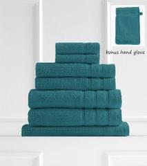 Royal Comfort Eden Egyptian Cotton 600GSM 8 Piece Luxury Bath Towels Set - Turquoise