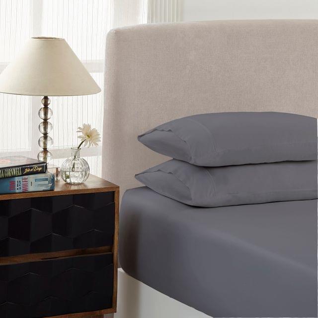 Royal Comfort 1500 Thread Count Combo Sheet Set Cotton Rich Premium Hotel Grade - Double - Dusk Grey