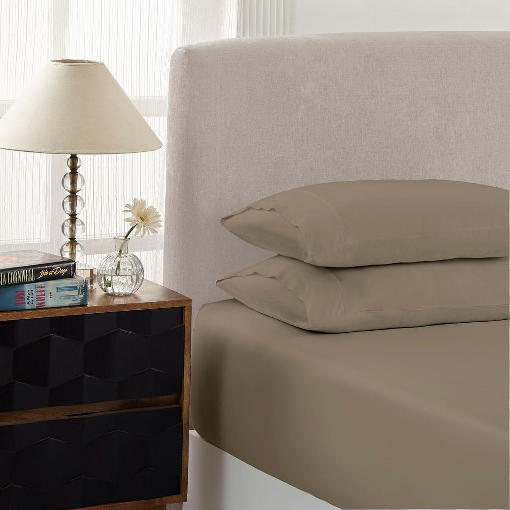 Royal Comfort 1500 Thread Count Combo Sheet Set Cotton Rich Premium Hotel Grade - Double - Stone