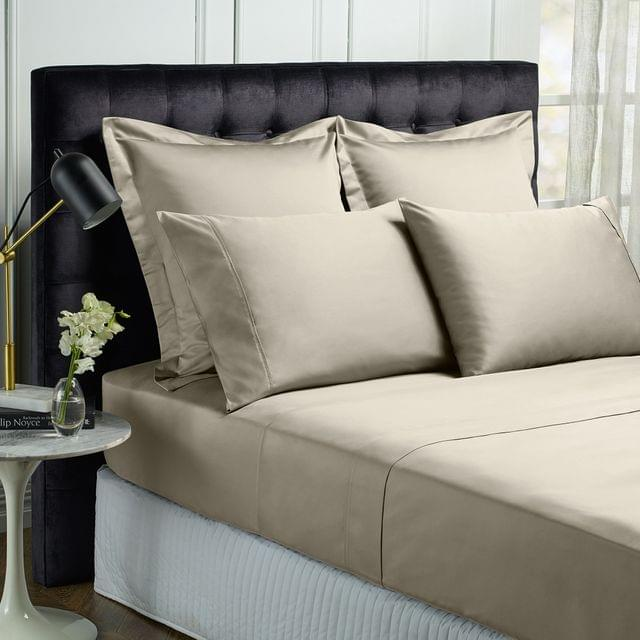 Royal Comfort King 1500TC Markle Collection Cotton Blend Sheet Set - Stone