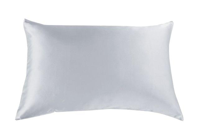 Royal Comfort Mulberry Soft Silk Hypoallergenic Pillowcase Twin Pack 51 x 76cm - Silver