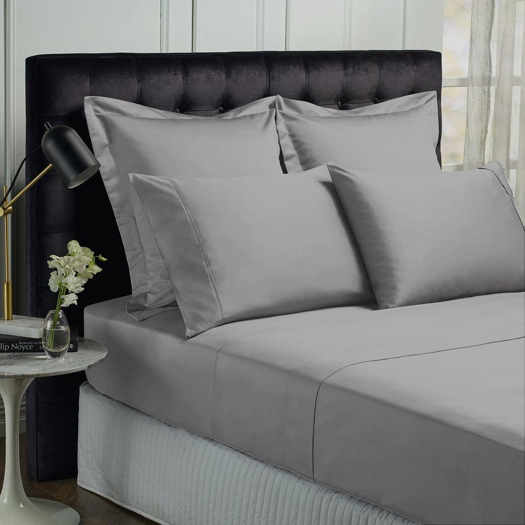 Royal Comfort Queen 1500TC Markle Collection Cotton Blend Sheet Set - Dusk Grey