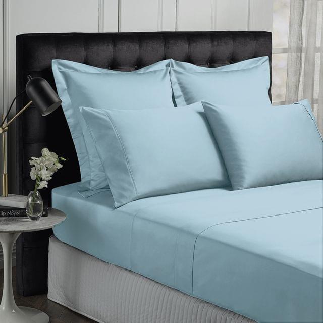 Royal Comfort Queen 1500TC Markle Collection Cotton Blend Sheet Set - Indigo