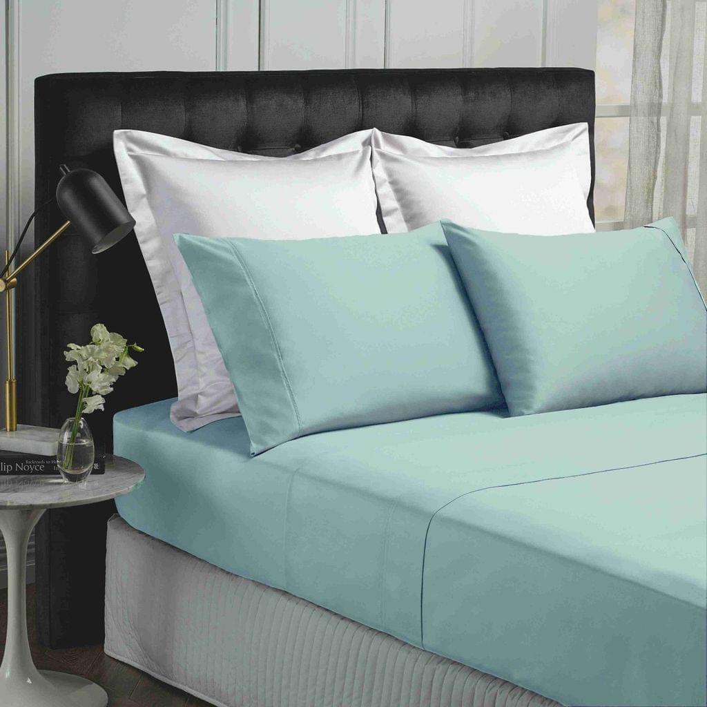 Park Avenue 500TC Soft Natural Bamboo Cotton Sheet Set Breathable Bedding - Queen - Fog