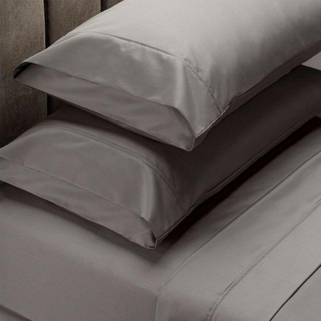 RC Bed Sheets Set 1000TC Soft Touch Cotton Blend Flat Fitted Queen - Charcoal