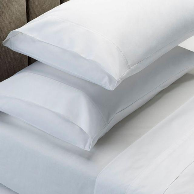 (QUEEN) RC Bed Sheets Set 1000TC Soft Touch Cotton Blend Flat Fitted  - White