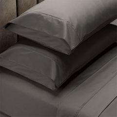 Renee Taylor 1500 Thread Count Pure Soft Cotton Blend Flat & Fitted Sheet Set  Dusk Grey