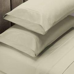Renee Taylor 1500 Thread Count Pure Soft Cotton Blend Flat & Fitted Sheet Set  Ivory