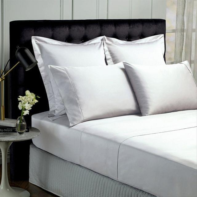 Royal Comfort 1000TC Hotel Grade Bamboo Cotton Sheets Pillowcases Set Ultrasoft - King - White