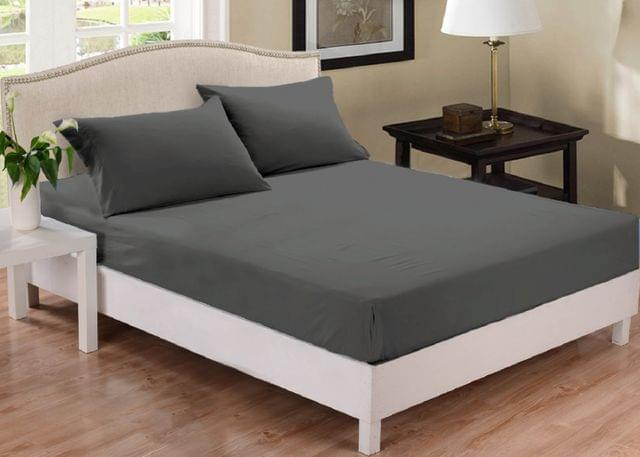 (KING) Park Ave 1000TC Cotton Blend Fitted Sheet Set  - Charcoal