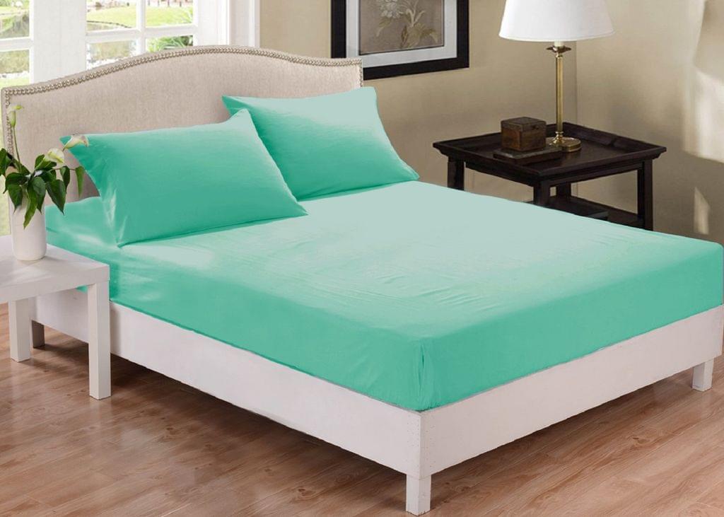 (QUEEN) Park Avenue 1000 Thread Count Cotton Blend Combo Set Mega Bed - Mist