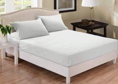 (QUEEN) Park Avenue 1000 Thread Count Cotton Blend Combo Set Bed - White