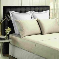 Park Avenue 500TC Soft Natural Bamboo Cotton Sheet Set Breathable Bedding - Double - Dove