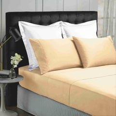 Park Avenue 500TC Soft Natural Bamboo Cotton Sheet Set Breathable Bedding - King - Blush