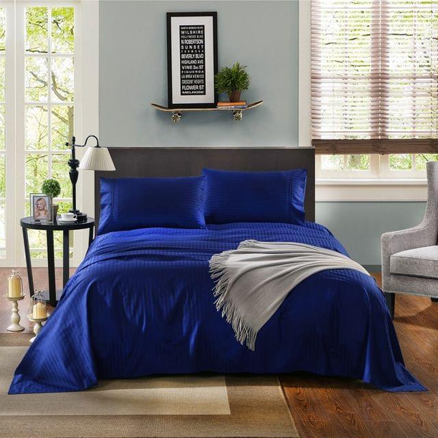 Kensington 1200TC 100% Egyptian Cotton Sheet Set Stripe Luxury  Indigo