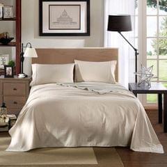 Kensington 1200TC Cotton Sheet Set Stripe King Size Bedding Cover Comfort - Sand