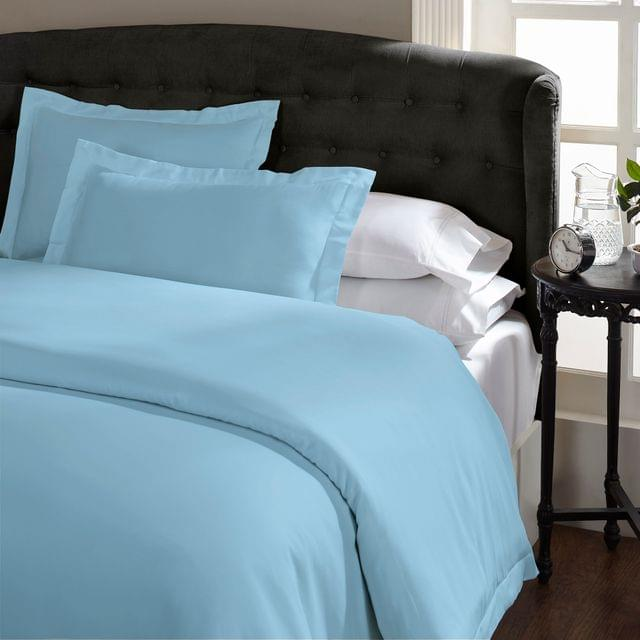 (QUEEN) Royal Comfort 1500TC Markle Collection Cotton Blend Quilt Cover Set - Indigo