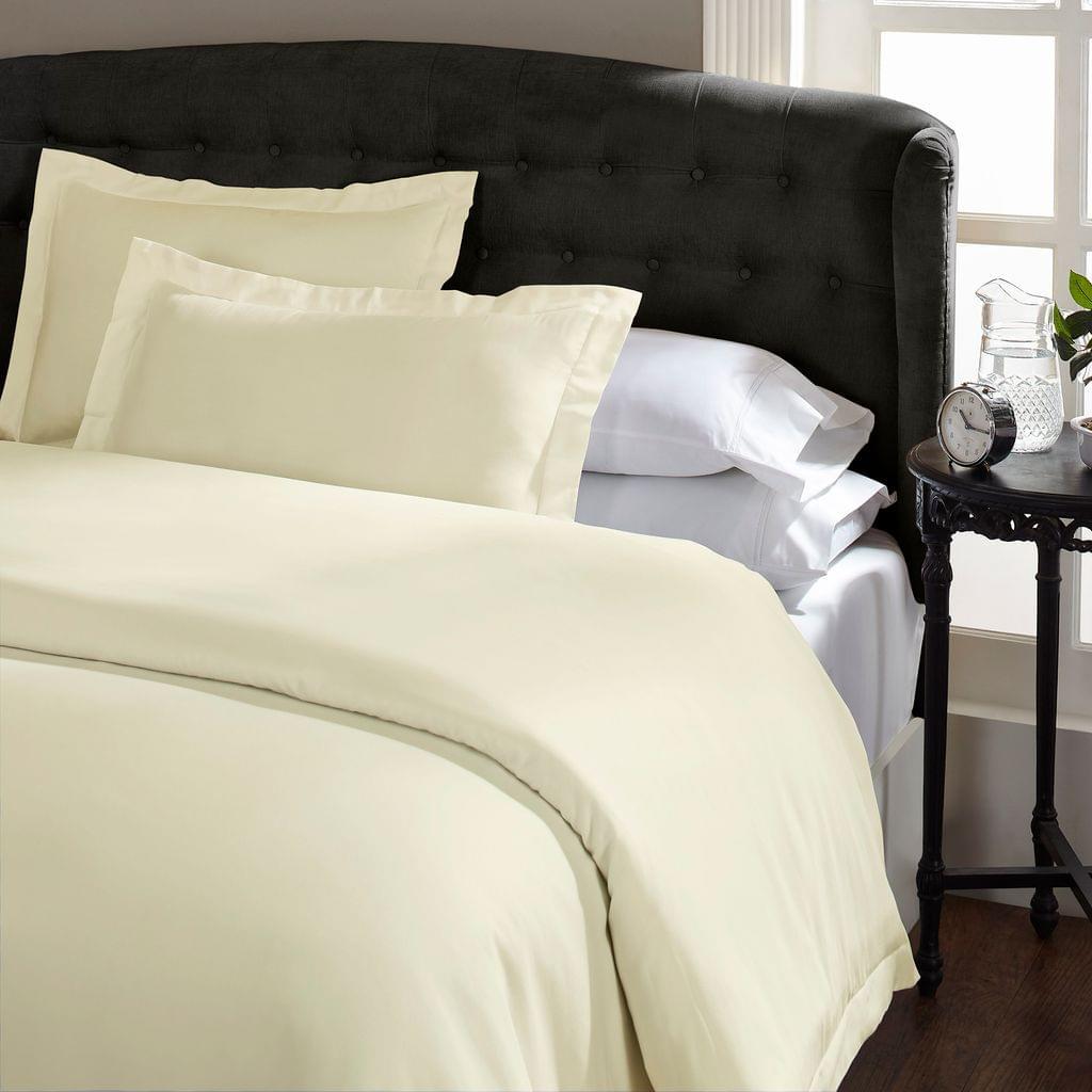(QUEEN) Royal Comfort 1500TC Markle Collection Cotton Blend Quilt Cover Set - Ivory