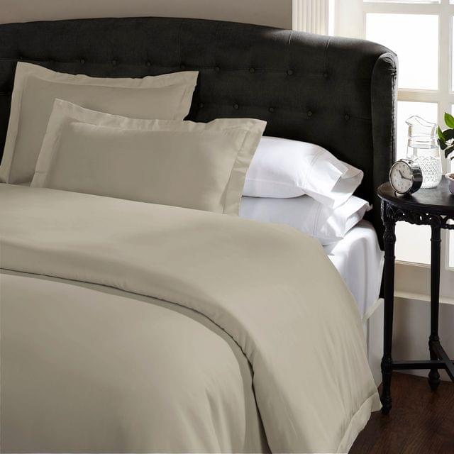 Royal Comfort Queen 1500TC Markle Collection Cotton Blend Quilt Cover Set - Stone