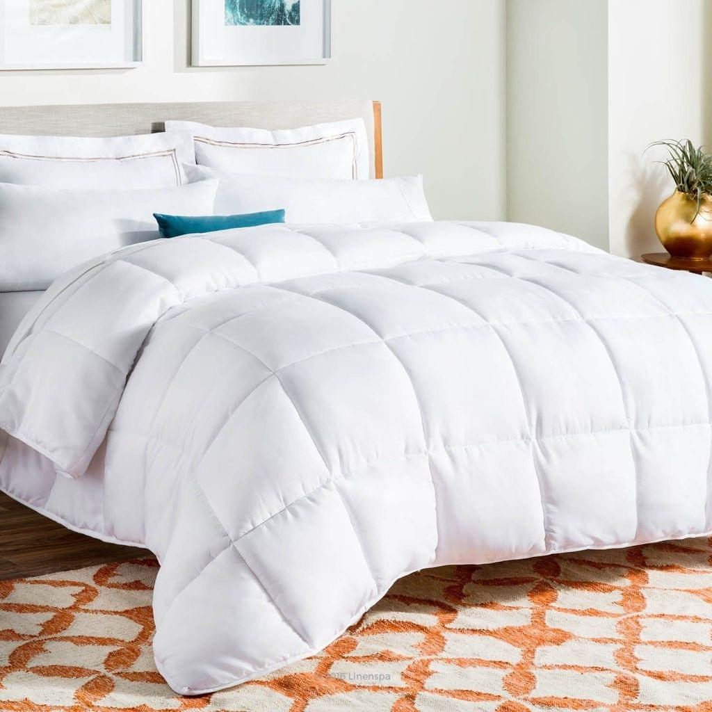 500GSM Soft Goose Feather Down Quilt Duvet Doona 95% Feather 5% Down All-Seasons - Single - White
