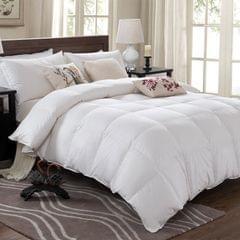 Royal Comfort Quilt 50% Duck Down 50% Duck Feather 233TC Cotton Pure Soft Duvet - Double - White