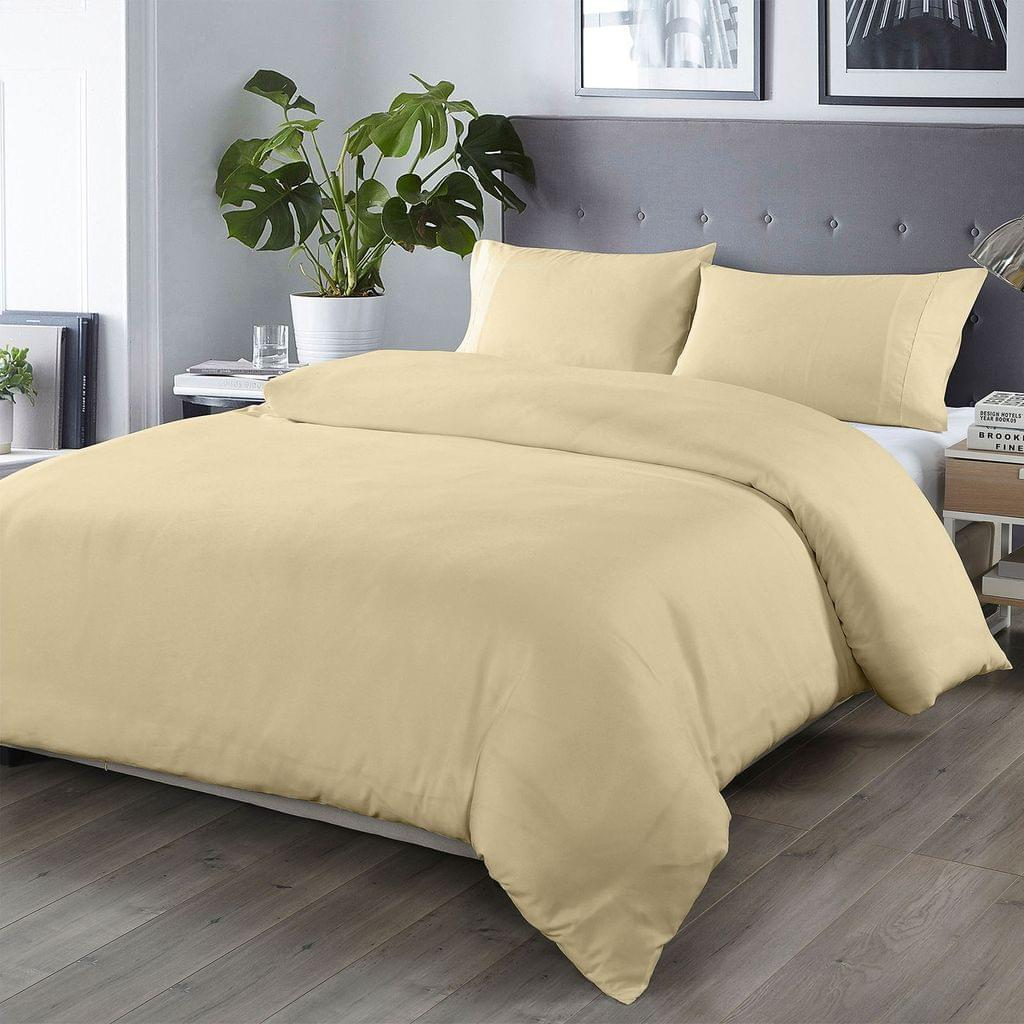 Royal Comfort Bamboo Blended Quilt Cover Set 1000TC Ultra Soft Luxury Bedding - King - Ivory