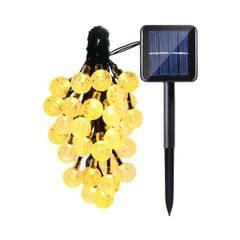 Solar Powered Crystal Globe Ball LED String Lights Party Wedding Christmas