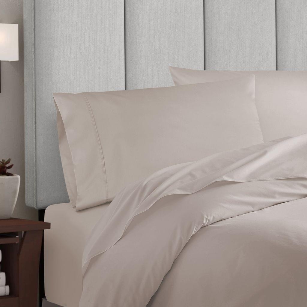 Balmain 1000 Thread Count Hotel Grade Bamboo Cotton Quilt Cover Pillowcases Set - King - Dove