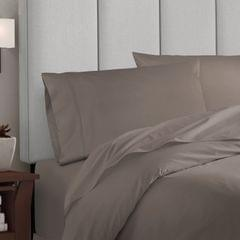 Balmain 1000 Thread Count Hotel Grade Bamboo Cotton Quilt Cover Pillowcases Set - King - Pewter