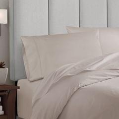 Balmain 1000 Thread Count Hotel Grade Bamboo Cotton Quilt Cover Pillowcases Set - Queen - Dove