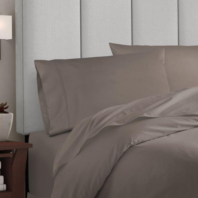 Balmain 1000 Thread Count Hotel Grade Bamboo Cotton Quilt Cover Pillowcases Set - Queen - Pewter