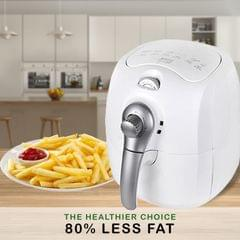 Kitchen Couture 4L Air Fryer Healthy Food No Oil Cooking Low Fat Family Meals - White/Silver