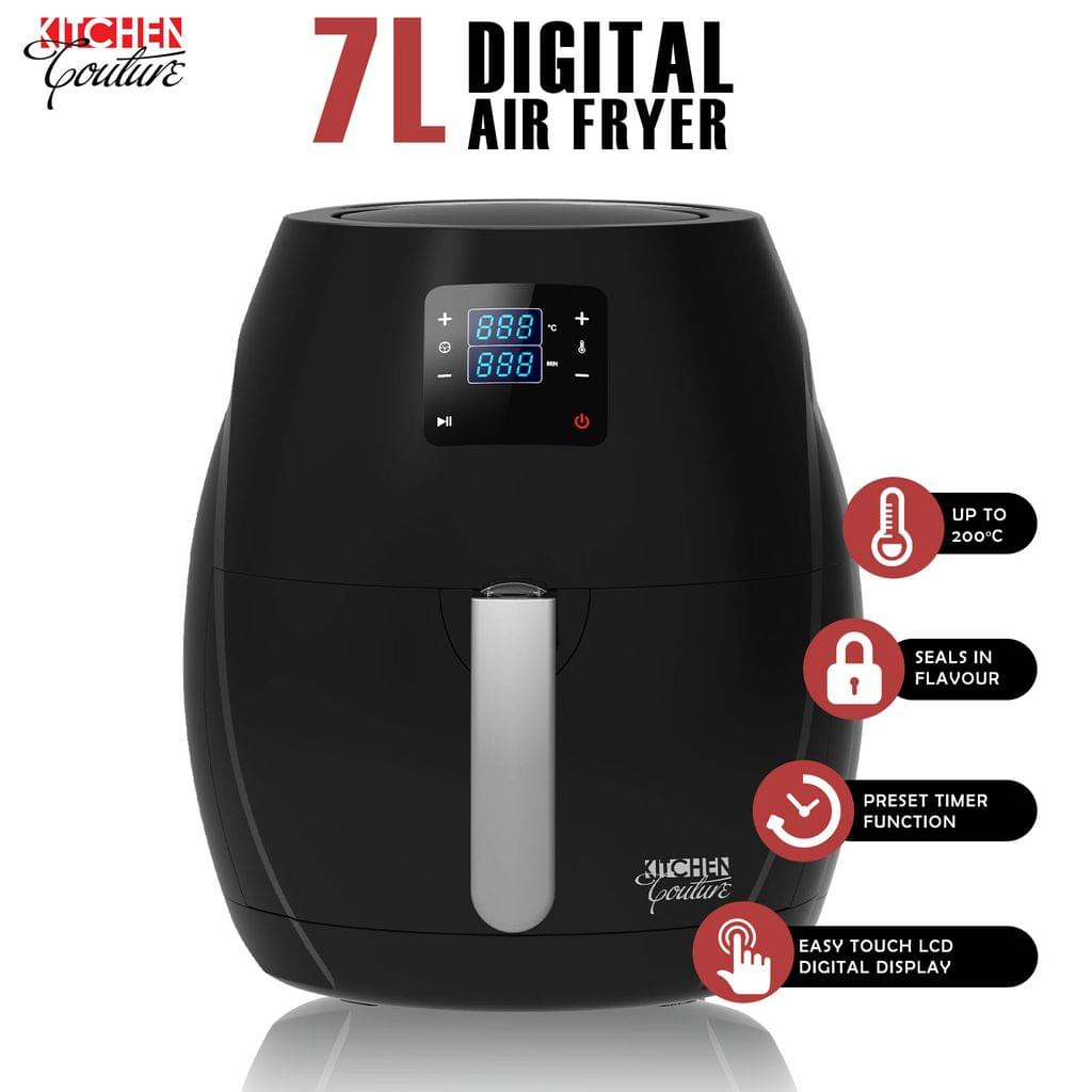 Kitchen Couture 7L Air Fryer Digital Low Fat Oil Free Rapid Healthy Deep Cooker