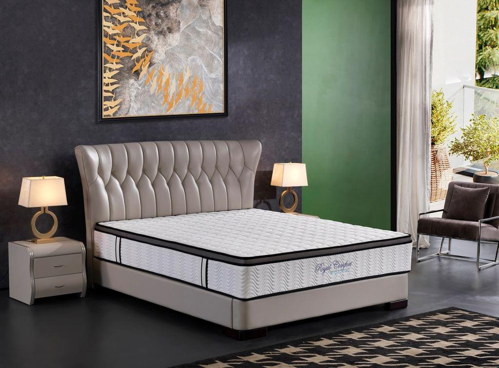(KING SINGLE) Ergopedic Mattress 5 Zone Latex Pocket Spring Mattress In A Box 30cm All Sizes - White