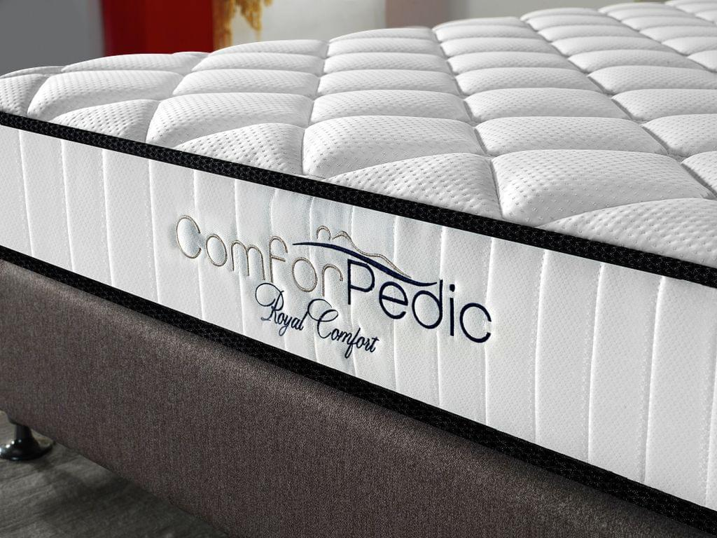 (DOUBLE) Royal Comfort Comforpedic 5 Zone Mattress In A Box Bonnell Spring Foam  White