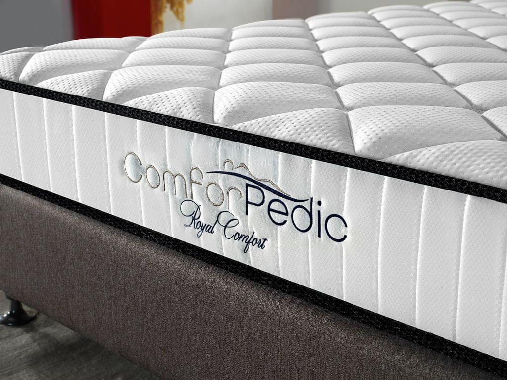 (KING)Royal Comfort Comforpedic 5 Zone Mattress In A Box Bonnell Spring Foam All Sizes - King - White