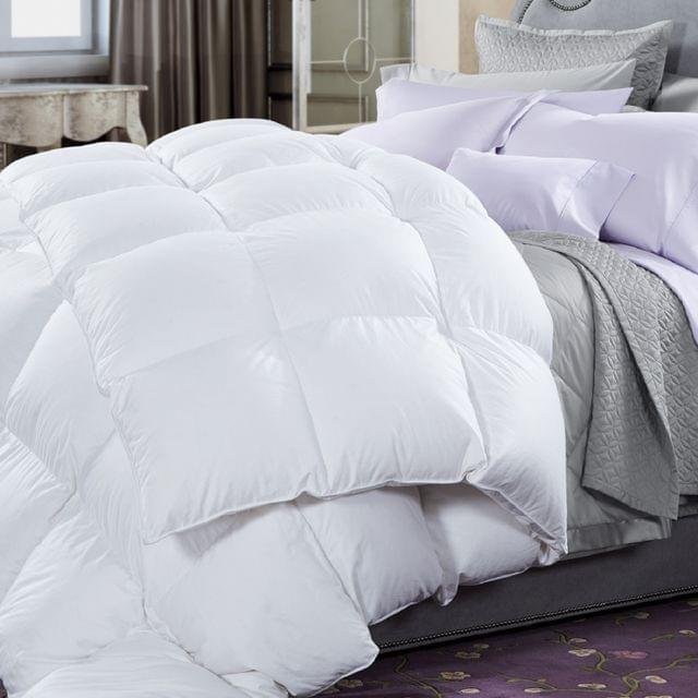 50% Duck Feather & 50% Duck Down Quilt 500GSM + Duck Pillows Twin Pack Combo - Single