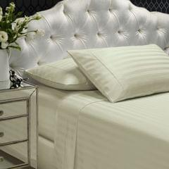 Royal Comfort 1200TC Sheet Set Damask Cotton Blend Ultra Soft Sateen Bedding - Queen - Blue Fog