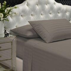 Royal Comfort 1200TC Sheet Set Damask Cotton Blend Ultra Soft Sateen Bedding - Queen - Pebble