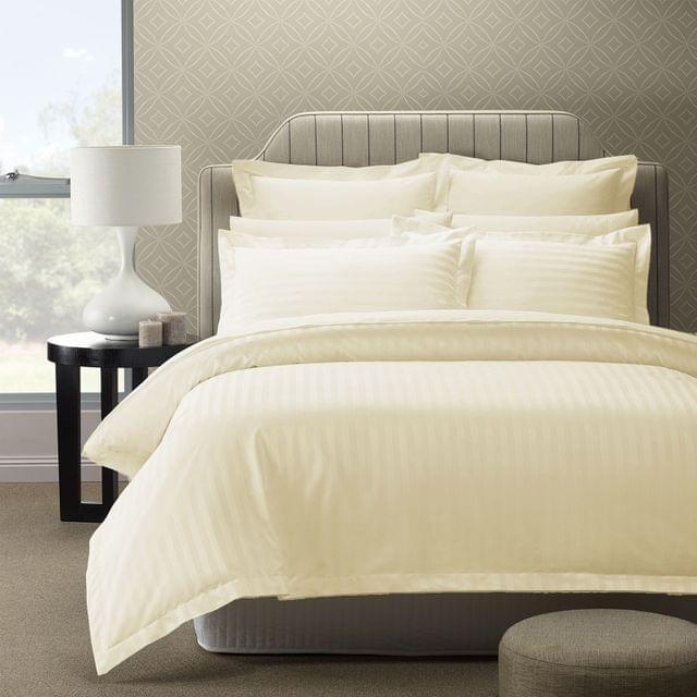 (KING) Royal Comfort 1200TC Quilt Cover Set Damask Cotton Blend Luxury Sateen Bedding - Pebble