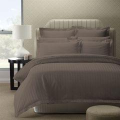 (KING) Royal Comfort 1200TC Quilt Cover Set Damask Cotton Blend Luxury Sateen Bedding  - Pewter