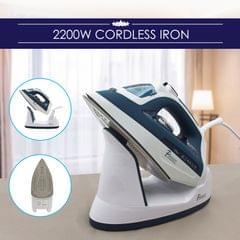 Pursonic Electric Cordless Steam Iron Portable Corded Cordless 2200W Blue White
