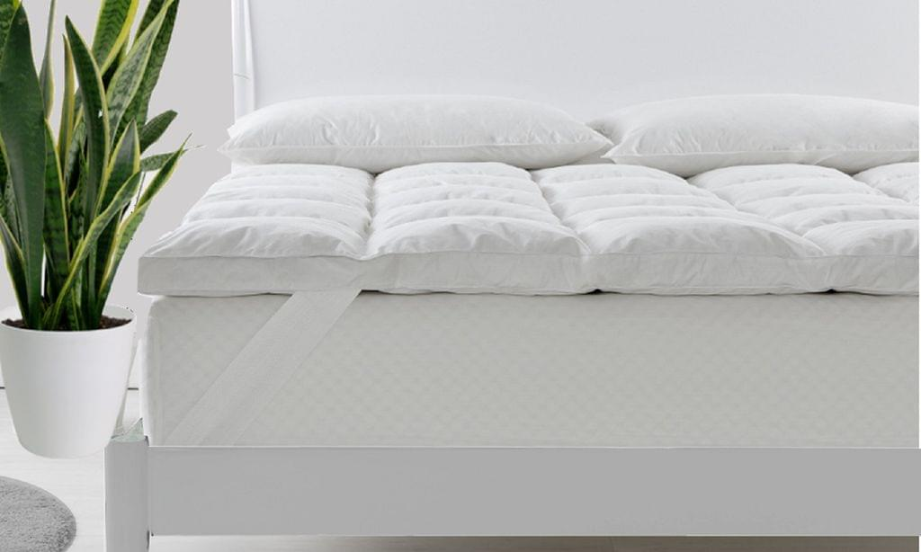 Royal Comfort Duck Feather and Down Mattress Topper 1800GSM Pillowtop Underlay - King Single