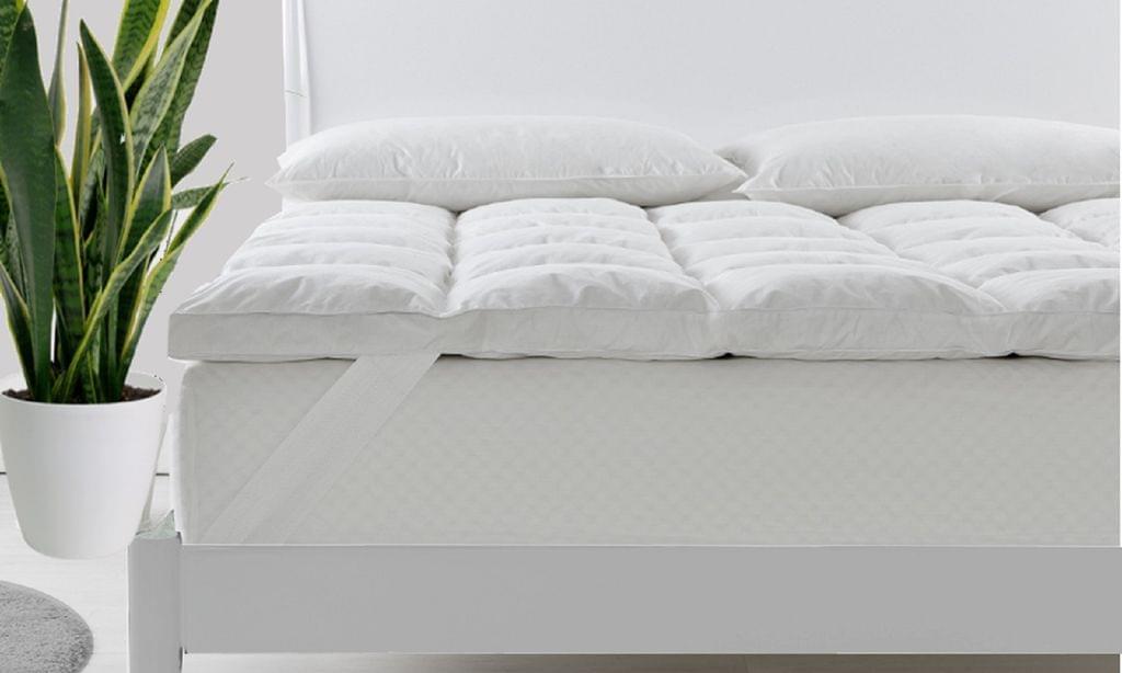 Royal Comfort Duck Feather and Down Mattress Topper 1800GSM Pillowtop Underlay - Queen
